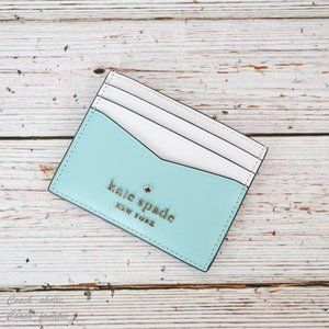 NWT Kate Spade Staci Colorblock Slim Card Holder